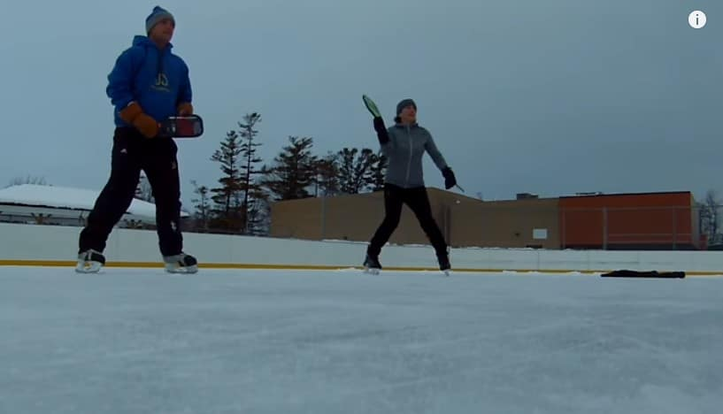 pickleball on ice