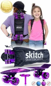 SKITCH Complete Skateboard Gift Set for All Ages with 22 Inch Mini Cruiser Board + Skateboard Backpack + Skate Tool + Tote Bag