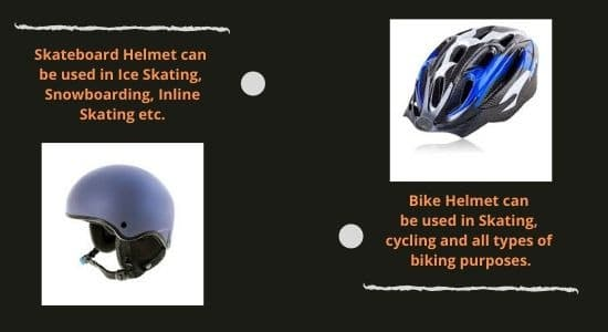 skateboard helmet and bike helmet