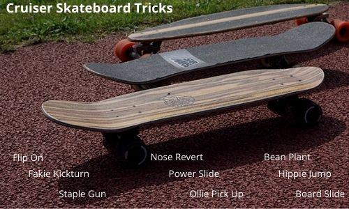 different cruiser skate tricks
