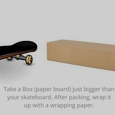 Packing a skateboard with paper box