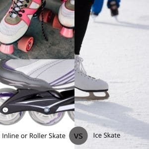 images of inline and ice skates